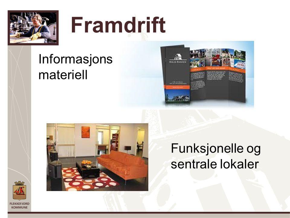 Framdrift Informasjons materiell Funksjonelle og sentrale lokaler