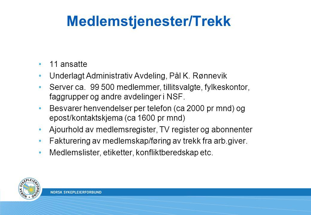 Medlemstjenester/Trekk 11 ansatte Underlagt Administrativ Avdeling, Pål K.