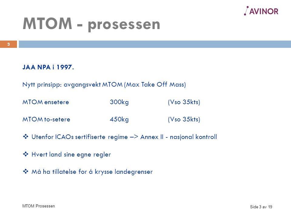 Side 3 av 19 MTOM Prosessen 3 JAA NPA i 1997.