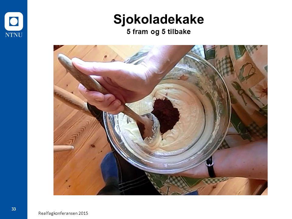 Realfagkonferansen 2015 33 Sjokoladekake 5 fram og 5 tilbake