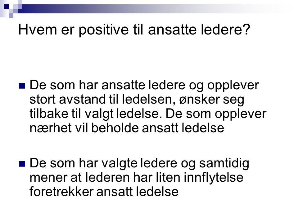 Hvem er positive til ansatte ledere.