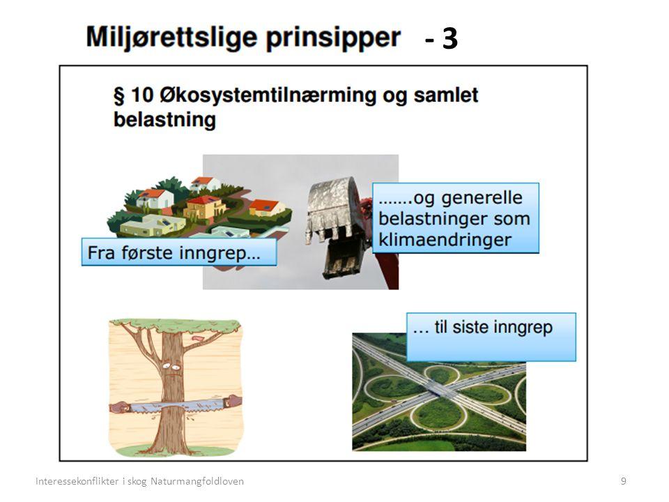 - 3 9Interessekonflikter i skog Naturmangfoldloven