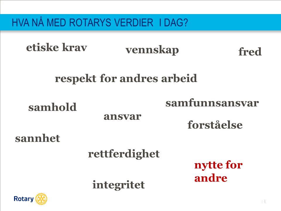 | 6 HVA NÅ MED ROTARYS VERDIER I DAG.