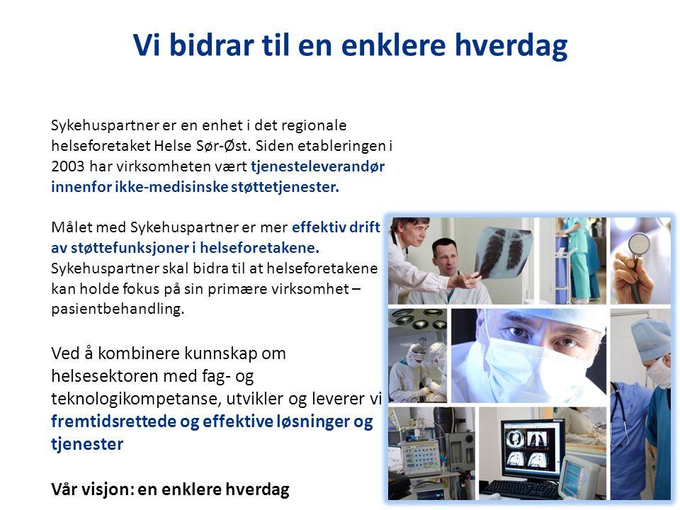 Sykehuspartner er en enhet i det regionale helseforetaket Helse Sør-Øst. Siden etableringen i 2003 har virksomheten vært tjenesteleverandør innenfor i