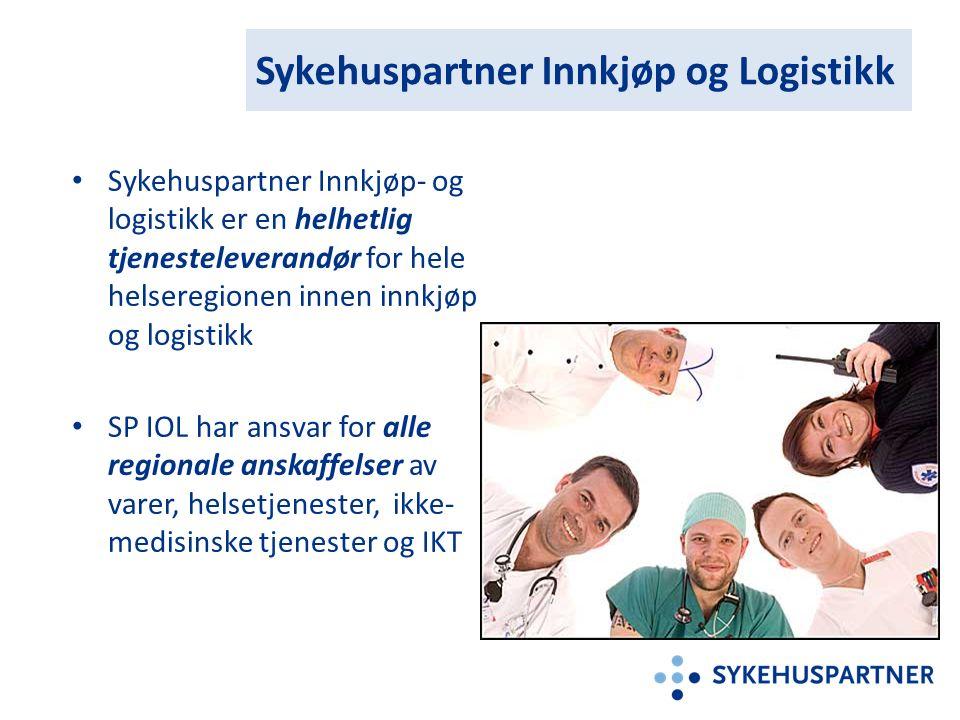 Sykehuspartner Innkjøp og Logistikk Sykehuspartner Innkjøp- og logistikk er en helhetlig tjenesteleverandør for hele helseregionen innen innkjøp og lo