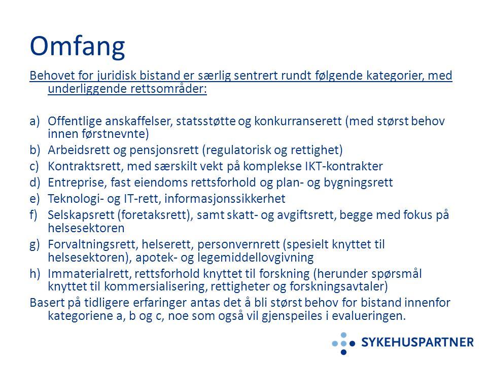 Kvalifisering Tydeliggjøring ifht.bruk av underleverandør – Jfr.