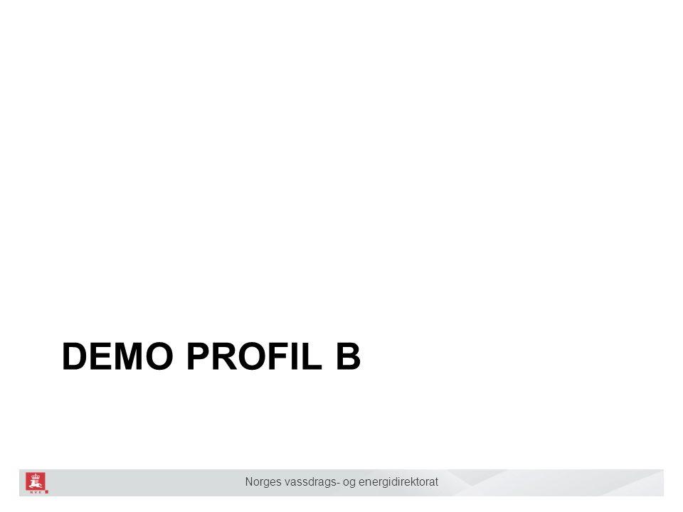 Norges vassdrags- og energidirektorat DEMO PROFIL B