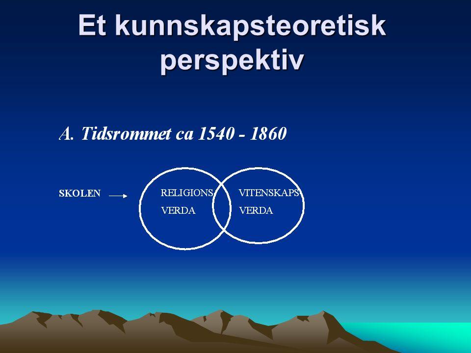 Et kunnskapsteoretisk perspektiv