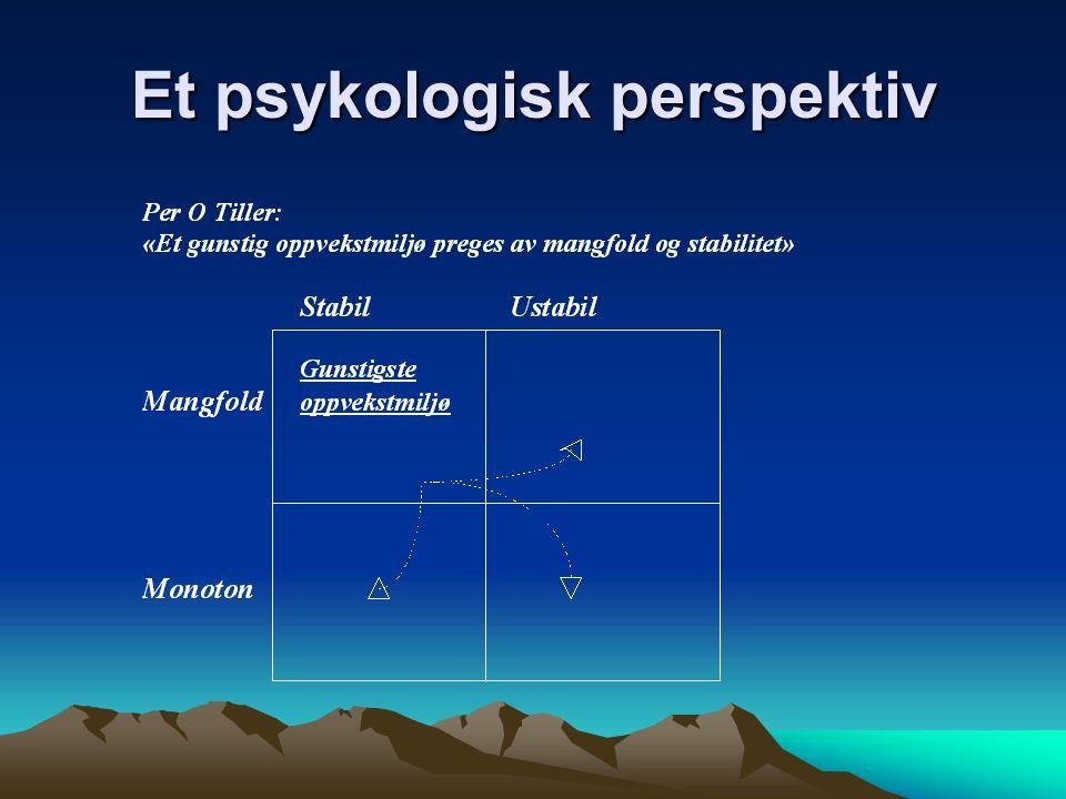 Et psykologisk perspektiv