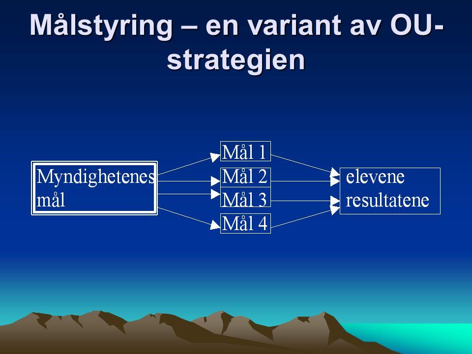 Målstyring – en variant av OU- strategien