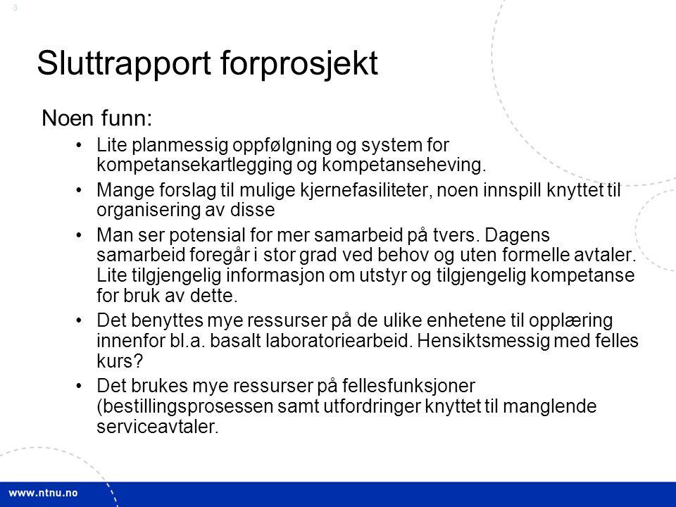 3 Sluttrapport forprosjekt Noen funn: Lite planmessig oppfølgning og system for kompetansekartlegging og kompetanseheving.