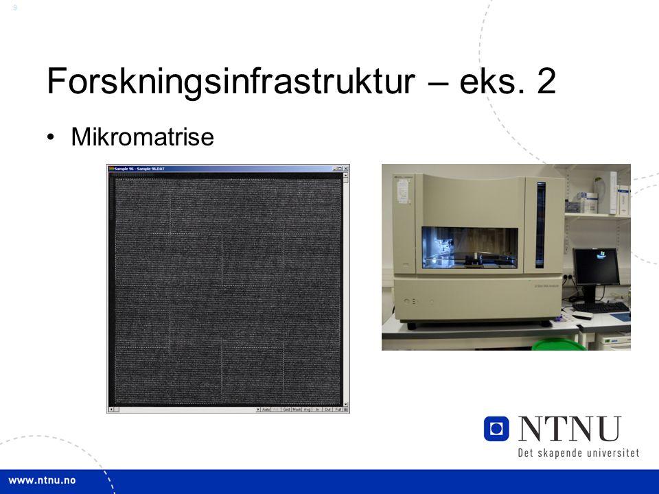 9 Forskningsinfrastruktur – eks. 2 Mikromatrise
