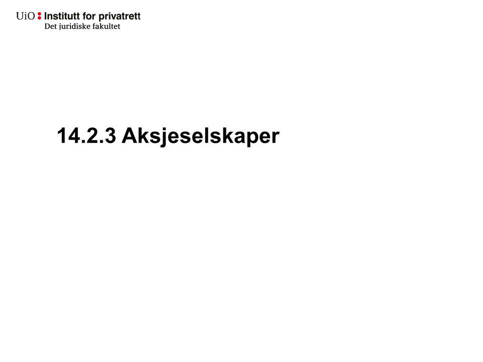 14.2.3 Aksjeselskaper