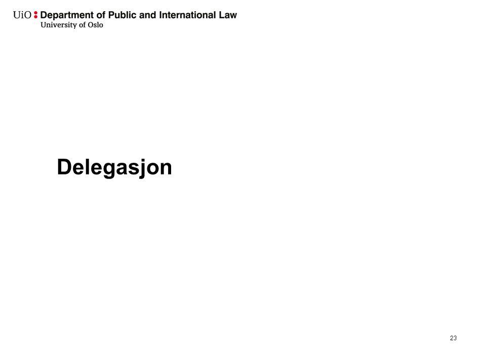 Delegasjon 23