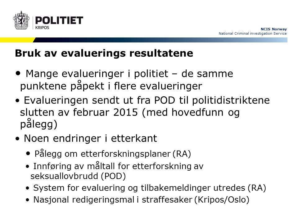 NCIS Norway National Criminal investigation Service Nærpolitireformen - Etterforskningsløftet