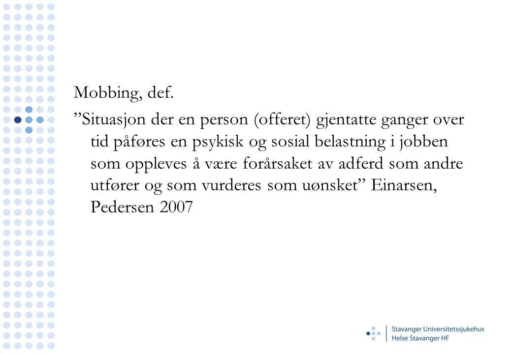 Mobbing, def.