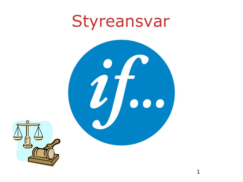 1 Styreansvar