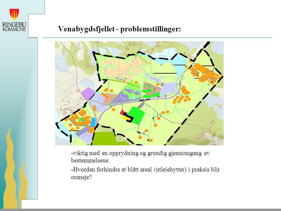 Venabygdsfjellet - problemstillinger: -viktig med en opprydning og grundig gjennomgang av bestemmelsene.