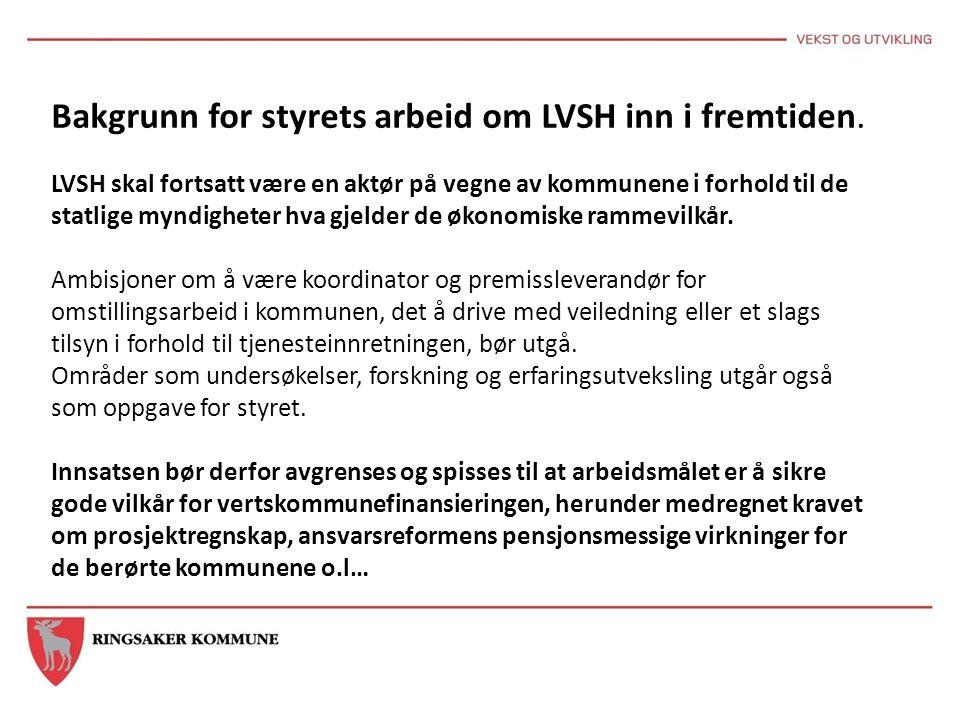 Bakgrunn for styrets arbeid om LVSH inn i fremtiden.