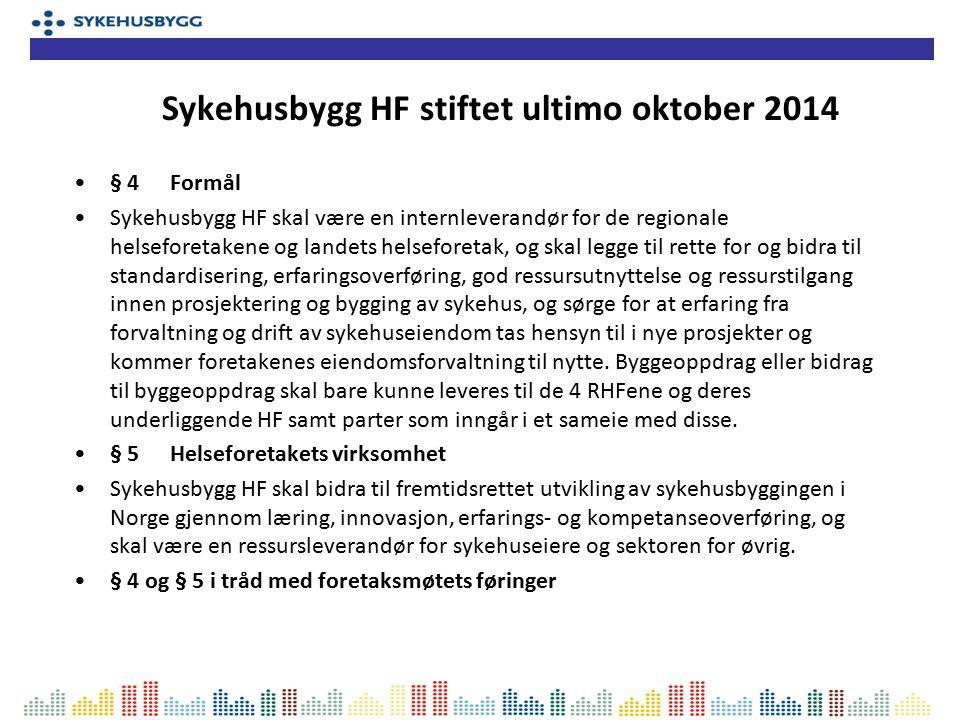 § 4Formål Sykehusbygg HF skal være en internleverandør for de regionale helseforetakene og landets helseforetak, og skal legge til rette for og bidra