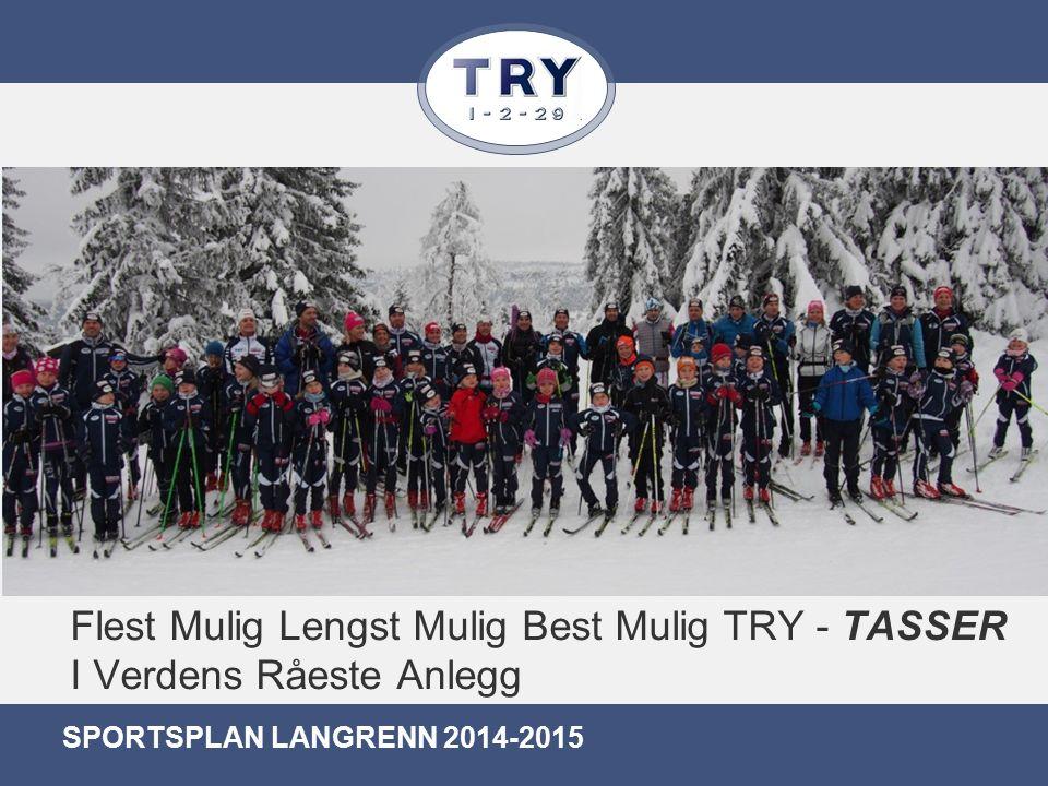 Flest Mulig Lengst Mulig Best Mulig TRY - TASSER I Verdens Råeste Anlegg SPORTSPLAN LANGRENN 2014-2015
