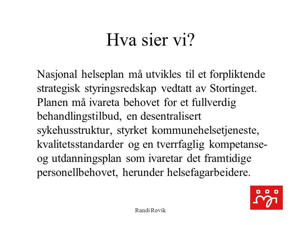 Randi Røvik Hva sier vi.