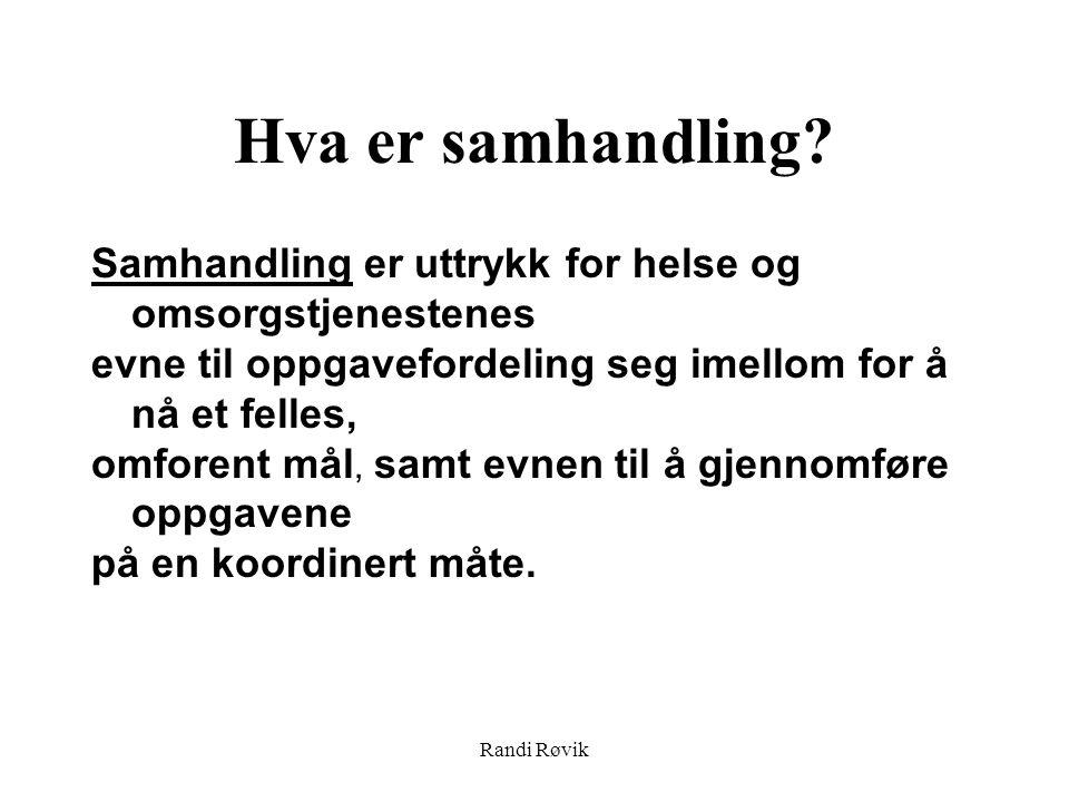 Randi Røvik Hva er samhandling.
