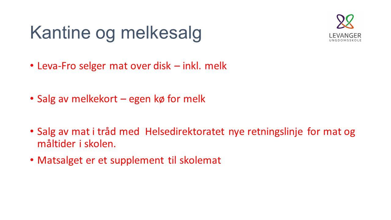 Kantine og melkesalg Leva-Fro selger mat over disk – inkl.