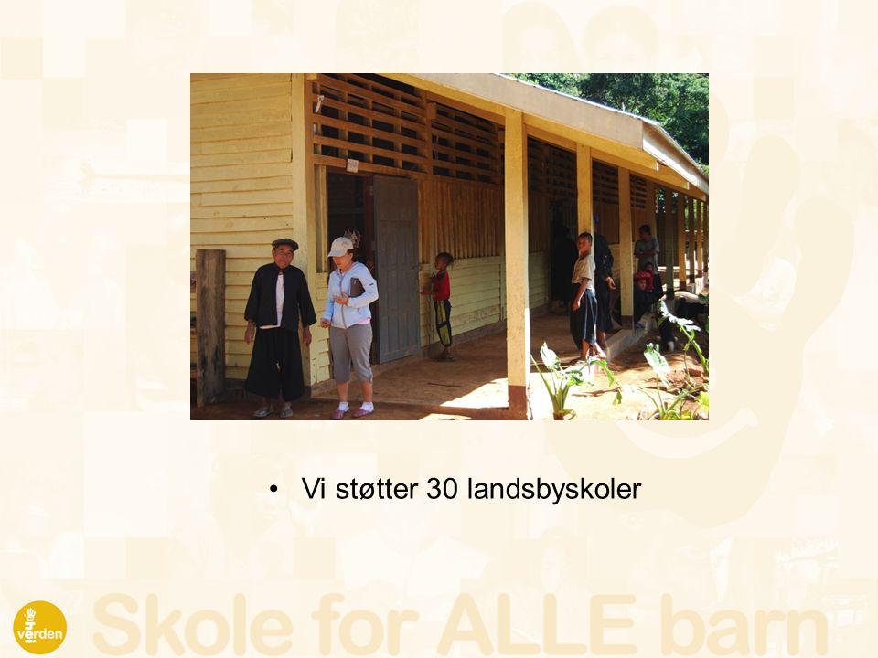 Vi støtter 30 landsbyskoler