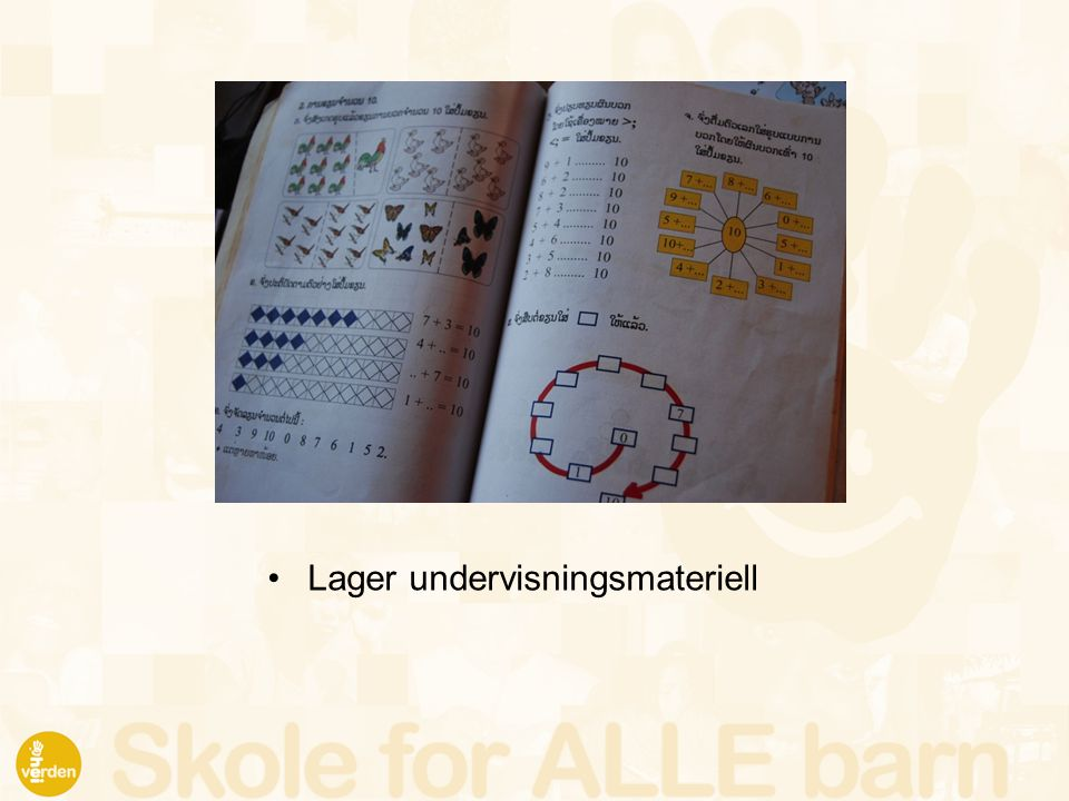 Lager undervisningsmateriell
