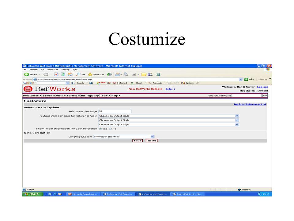 Costumize