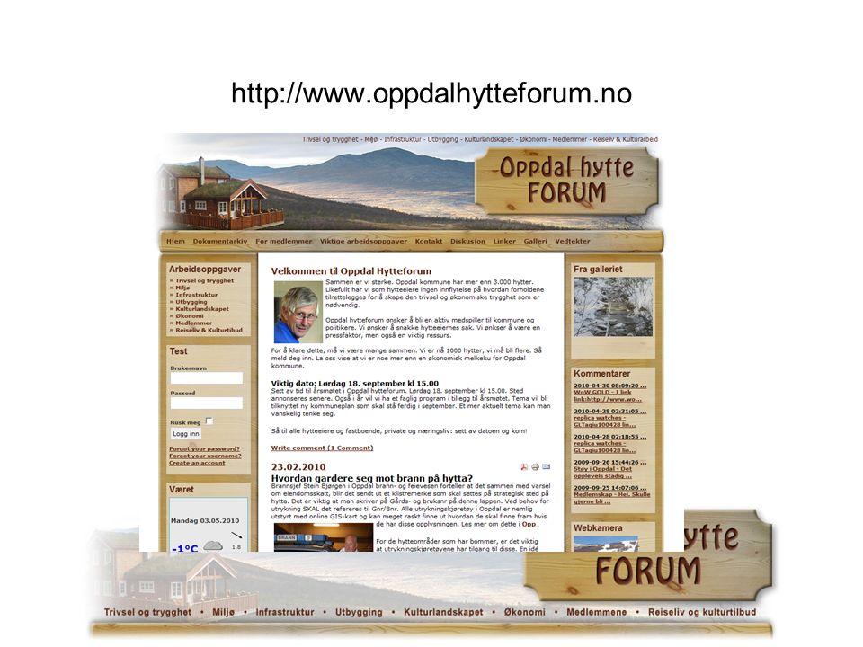 http://www.oppdalhytteforum.no