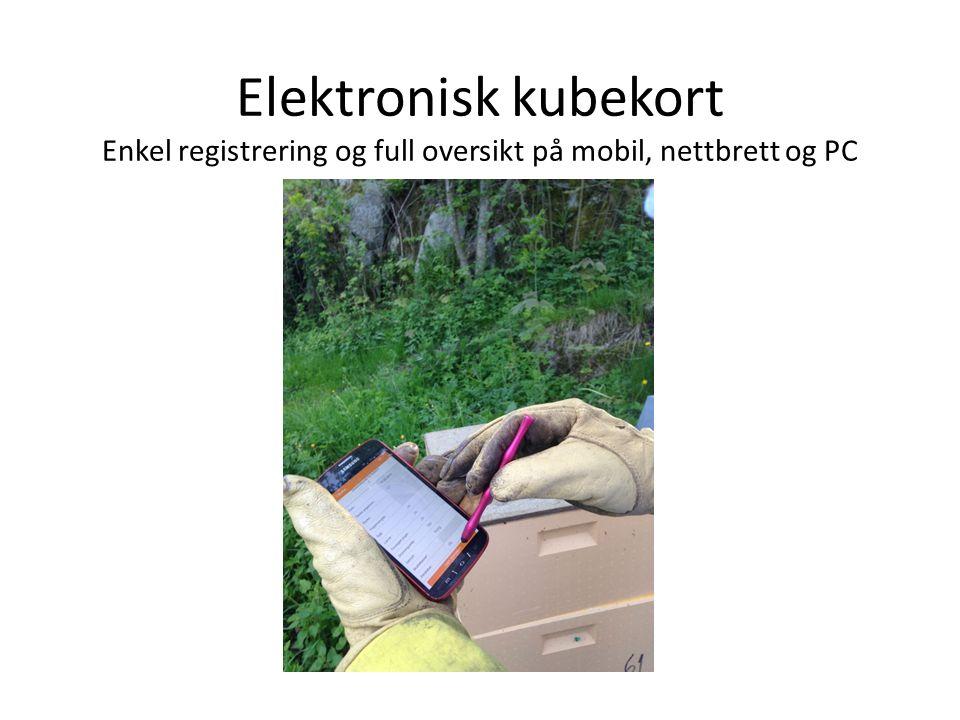 Elektronisk kubekort Enkel registrering og full oversikt på mobil, nettbrett og PC