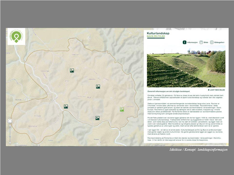 Idéskisse / Konsept: landskapsinformasjon