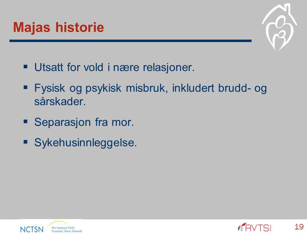 Majas historie  Utsatt for vold i nære relasjoner.