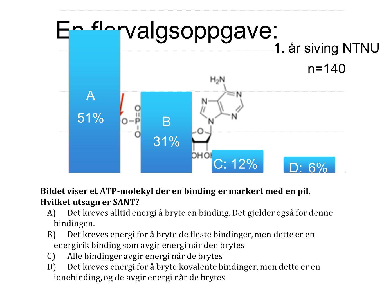 «Hydrolyse av trifosfatet ATP til difosfatet ADP frigjør mye energi» (Kjemien stemmer 2, 2008)