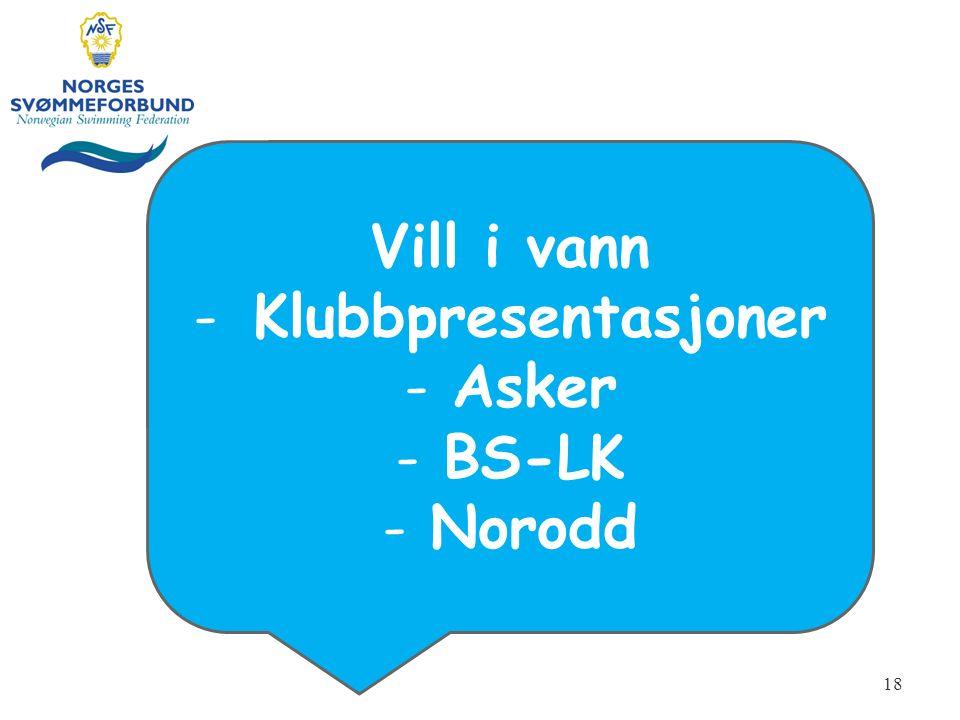 Vill i vann -Klubbpresentasjoner -Asker -BS-LK -Norodd 18