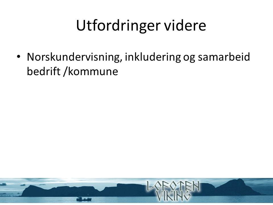 Utfordringer videre Norskundervisning, inkludering og samarbeid bedrift /kommune