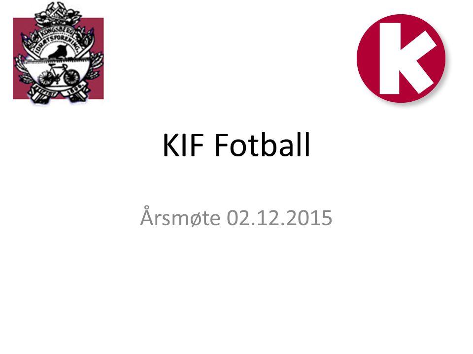 KIF Fotball Årsmøte 02.12.2015