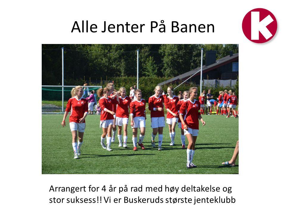Alle Jenter På Banen Arrangert for 4 år på rad med høy deltakelse og stor suksess!.