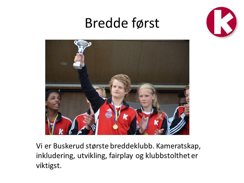 Bredde først Vi er Buskerud største breddeklubb.