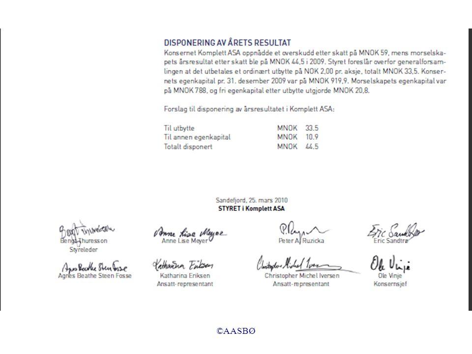 ©AASBØ Transaksjon 7 (forretningstilfelle): Vi nedbetaler leverandørgjelden med 5 000 ved å redusere bankinnskuddet.