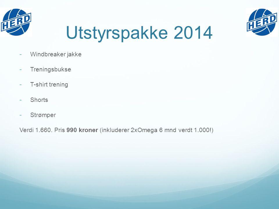 Utstyrspakke 2014 - Windbreaker jakke - Treningsbukse - T-shirt trening - Shorts - Strømper Verdi 1.660.