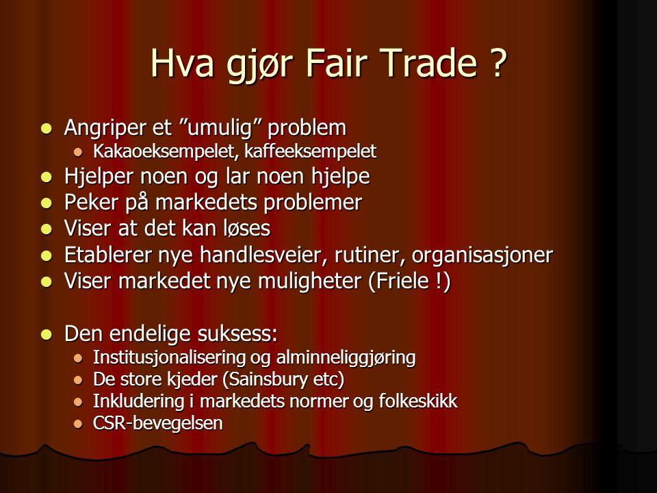 Hva gjør Fair Trade .