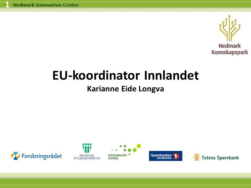 24.09.2016 2 Hedmark Innovation Centre Formål med EU-koordinatorprosjektet Øke innlandets deltagelse i EU-prosjekter Bygge nettverk og markedsføre programmene