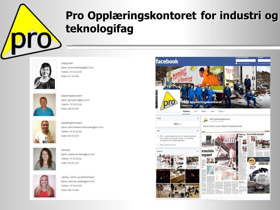 Pro Opplæringskontoret for industri og teknologifag