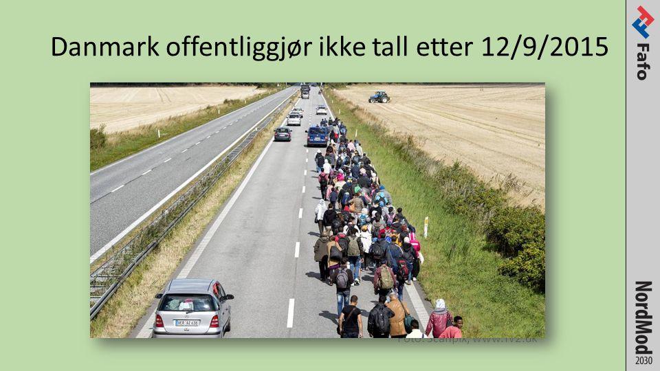Foto: Scanpix, www.Tv2.dk Danmark offentliggjør ikke tall etter 12/9/2015