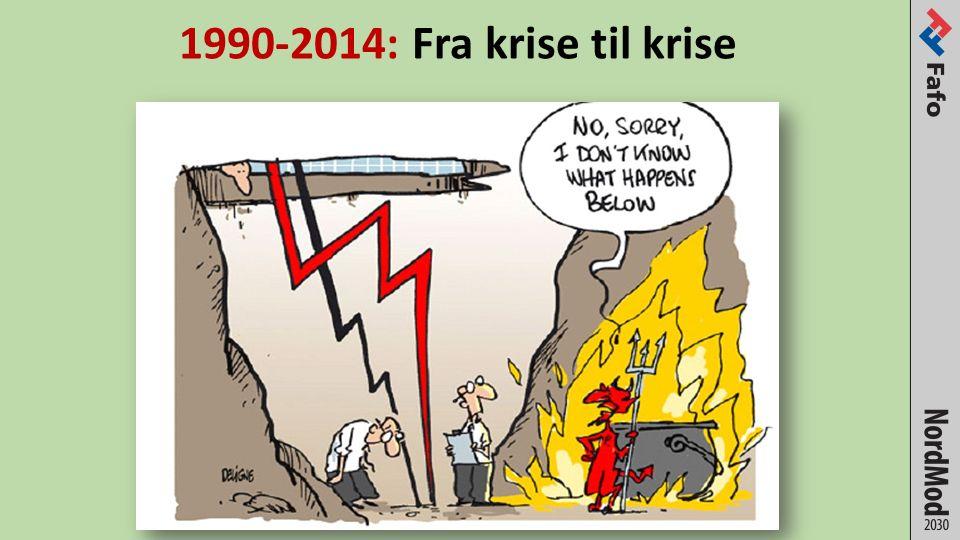 1990-2014: Fra krise til krise