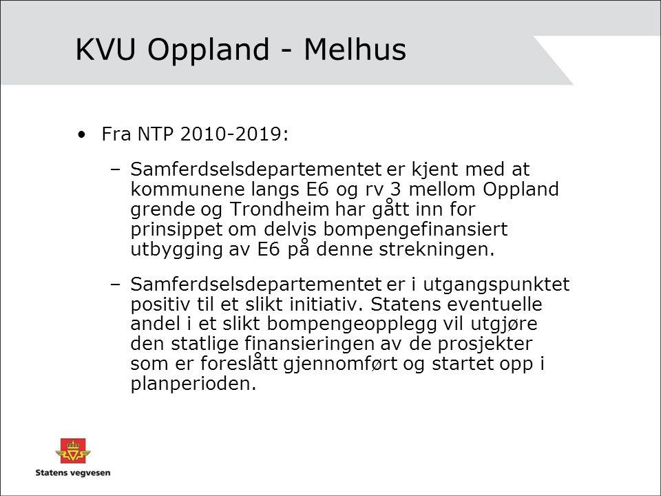 Bestilling KVU/KS1 Samferdselsdepartementet har sendt bestilling på KS1 til Statens vegvesen.