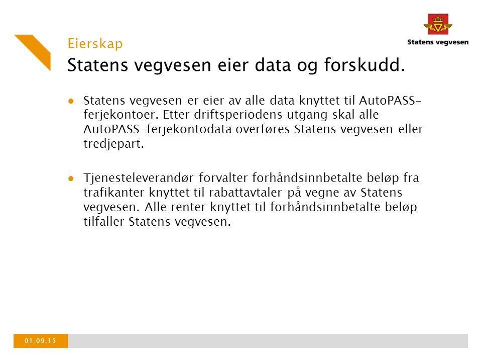 Statens vegvesen eier data og forskudd.